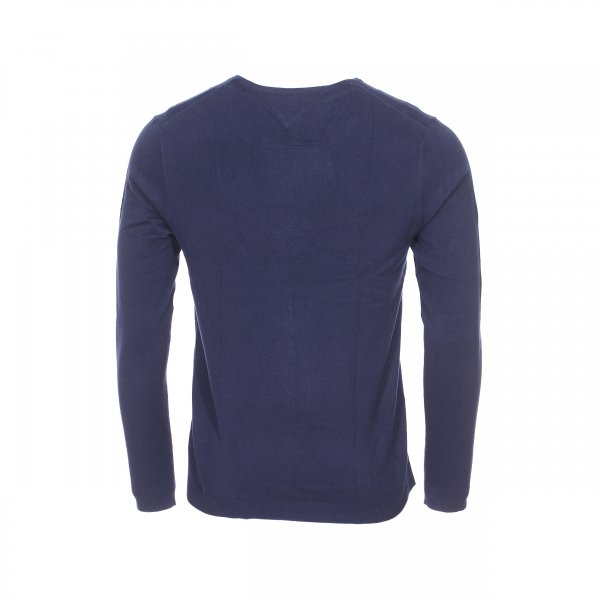 Pull col rond Original Tommy Jeans bleu marine