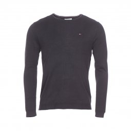 Pull col rond Original Tommy Jeans noir
