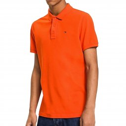 Polo Tommy Jeans Basic en maille piquée orange