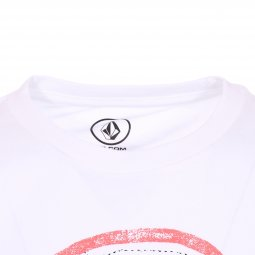 Tee-shirt col rond Volcom Junior Comes Around en coton blanc floqué
