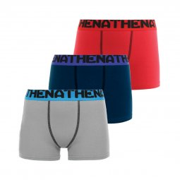 Lot de 3 boxers Athena Junior Eco Pack en coton stretch colorés