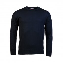 Pull col rond Armor Lux Damgan en laine bleu marine