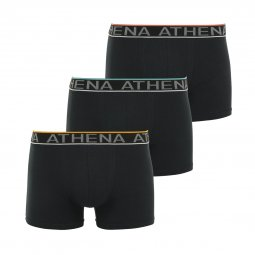 Lot de 3 boxers Athena Easy Chic en coton stretch noir