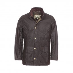 Parka Barbour Hereford en toile de coton huilé marron