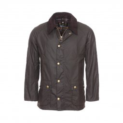 Parka Barbour Ashby en toile de coton huilé marron