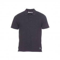 Polo Calvin Klein Jeans Back Institutional Logo en piqué de coton noir  floqué au dos ... 25eba475cef8