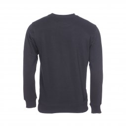 Sweat col rond Calvin Klein Monogram Chest Logo en coton noir