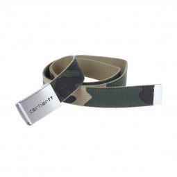 Ceinture ajustable Carhartt WIP Clip Belt Chrome à imprimé camouflage ... 0966d898f78