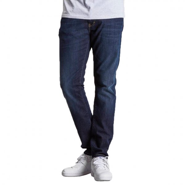 Jean Carhartt Rebel Pant Slim tapered fit en coton stretch bleu légèrement délavé