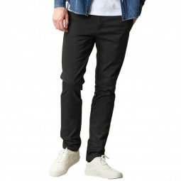 Pantalon Carhartt WIP Sid Black Rinsed en twill de coton stretch