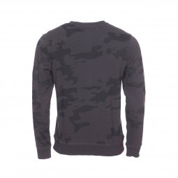 Sweat col rond Deeluxe Est. 74 Junior Heathens en molleton à imprimé camouglage noir et gris anthracite