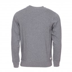 Sweat col rond Diesel Willy en coton gris chiné