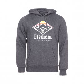 Sweat à capuche Element Layer en molleton gris anthracite chiné floqué