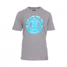 Tee-shirt col rond Element Junior Snow Icon en coton gris chiné floqué