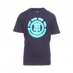Tee-shirt col rond Element Junior Snow Icon en coton bleu nuit floqué