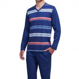 Coffret cadeau Eminence   Pyjama long en coton   tee-shirt manches longues  col V ... 135f27a29a8