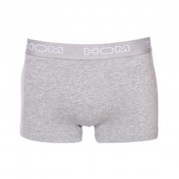 Lot de 3 boxers HOM en coton stretch gris clair chiné, gris anthracite chiné et noir