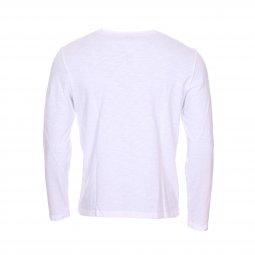 26ee04ea9905 ... Tee-Shirt manches longues col tunisien Harris Wilson Yasar en coton  blanc