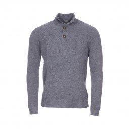 85102fcb461f Pull à col boutonné Harris Wilson Franklin en laine mélangée gris chiné ...