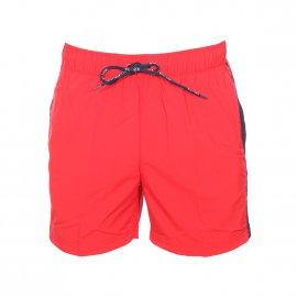 Short de bain Hilfiger Denim Basic Flag rouge