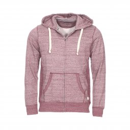Sweat zippé à capuche Jack & Jones Jjespace en coton mélangé bordeaux chiné