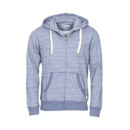 Sweat zippé à capuche Jack & Jones Jjespace en coton mélangé bleu chiné