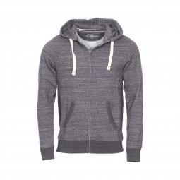 Sweat zippé à capuche Jack & Jones Jjespace en coton mélangé gris anthracite chiné