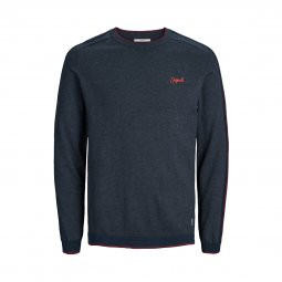 Sweat col rond Jack & Jones Jorjicks en coton mélangé bleu marine chiné