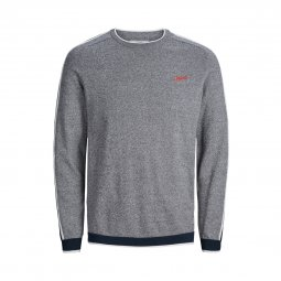 Sweat col rond Jack & Jones Jorjicks en coton mélangé gris chiné