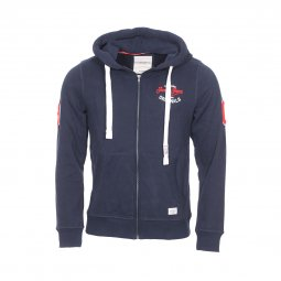 Sweat zippé à capuche Jack & Jones Jorfara en coton bleu marine