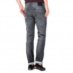 Jean Lee Rider Slim Grey Used en coton stretch gris délavé