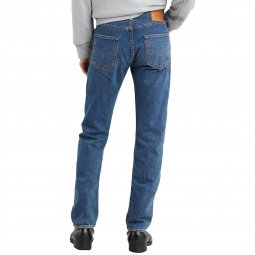 Jean Levi's 501 Original fit Bleu Eyes en coton stretch bleu indigo