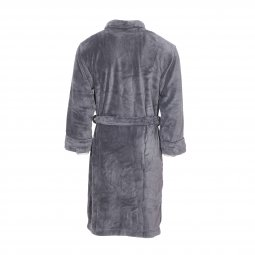 Peignoir polaire long Mariner gris anthracite