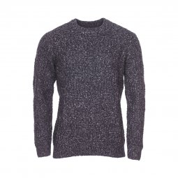 Pull col rond Pepe Jeans Hoxton à mailles bleu marine chiné