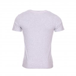 Tee-shirt col V Replay en coton stretch gris chiné