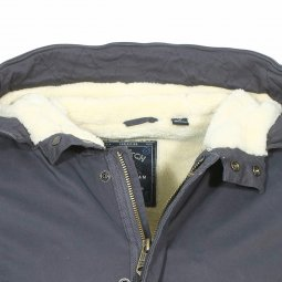 Parka à capuche Scotch & Soda en coton stretch gris anthracite