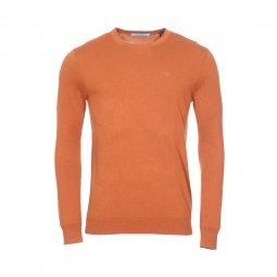 Pull col rond Scotch & Soda en coton marron