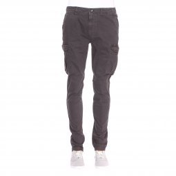 Pantalon cargo Superdry Surplus Goods en coton stretch gris anthracite
