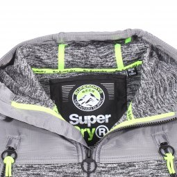 Sweat zippée à capuche Superdry Moutain gris chiné