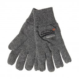 Gants Superdry Orange Label en coton gris chiné