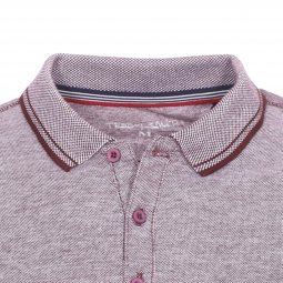 Polo Teddy Smith Phylo en coton bordeaux foncé chiné