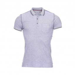Polo Teddy Smith Phylo en coton gris anthracite chiné
