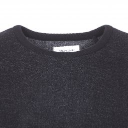 Pull col rond Teddy Smith Pago noir chiné