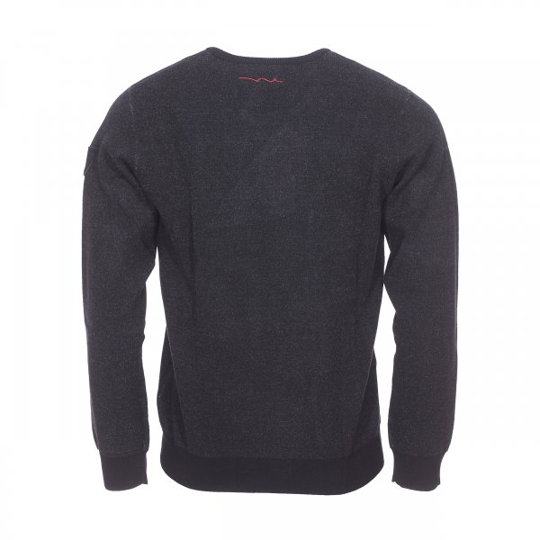 Pull col rond Teddy Smith Pago noir chiné | Rue Des Hommes