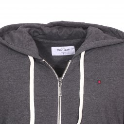 Sweat zippé à capuche Gelly 2 Teddy Smith en coton mélangé gris anthracite chiné