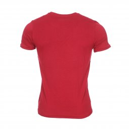 Tee-shirt col rond Teddy Smith Tengo en coton rouge floqué