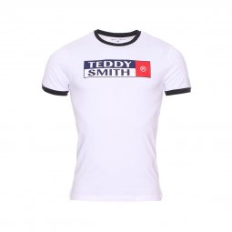 Tee-shirt col rond Teddy Smith Tozo en coton blanc