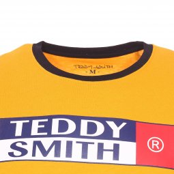 Tee-shirt col rond Teddy Smith Tozo en coton jaune
