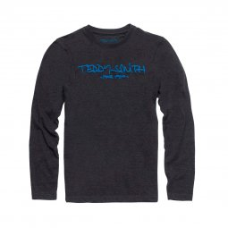 Tee-shirt manches longues col rond Teddy Smith Junior Ticlass 3 noir chiné floqué