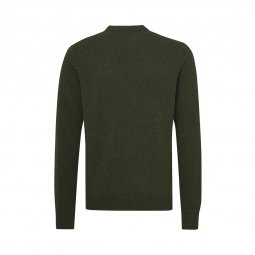 Pull col rond Tommy Hilfiger en laine vert sapin chiné